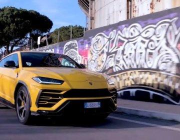 Lamborghini Urus на улицах Рима