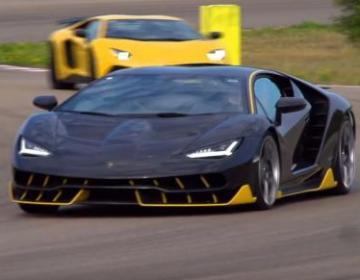Lamborghini Centenario LP770-4 обкатывают на кольцевом треке в Nordo, Италия