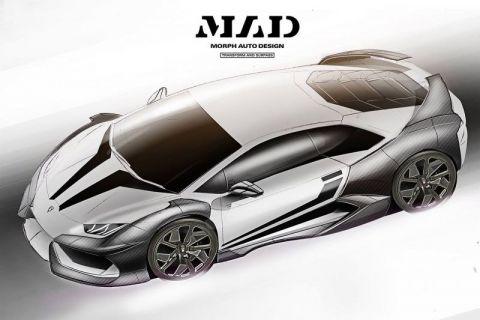 Аэродинамический комплект для Lamborghini Huracan от Morph Auto Design