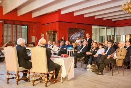 Конференция, посвященная Carrozzeria Touring Superleggera. Помимо всего прочего, на конференции был замечен тот самый среднемоторный макет проекта P400 Tigre.
