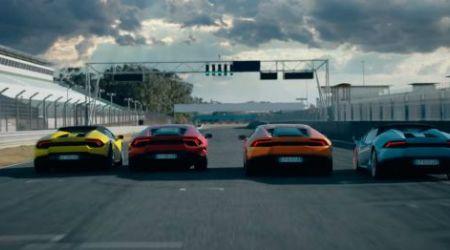 Четыре версии Lamborghini Huracan в одном ролике