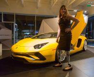 Aventador S Unveiling Event - Lamborghini Newport Beach. Стильные протезы - с логотипом Lamborghini :)