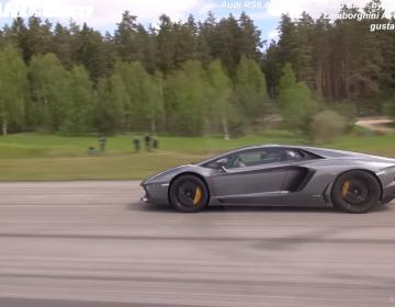 Lamborghini Aventador LP700 против Audi RS6 Avant C7 700HP. Кто кого?