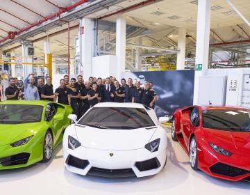 Маттео Ренци посетил Automobili Lamborghini