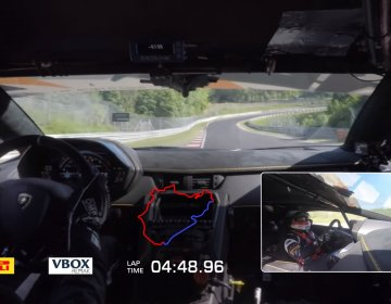 Lamborghini Aventador SVJ (Super Veloce Jota) покоряет Зеленый Ад.