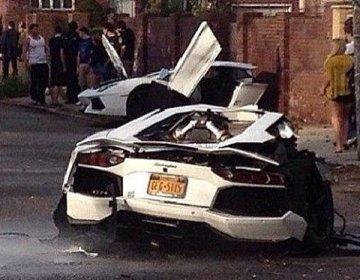 Авария в Бруклине с участием Lamborghini Aventador LP700-4