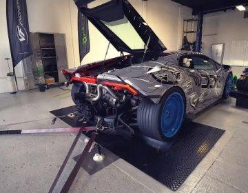 Результат замены выхлопа на Lamborghini Huracan