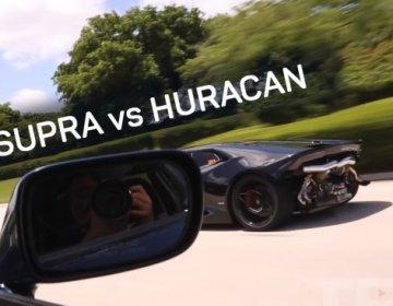 Турбированная Supra против турбированного Huracan