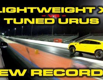Заряженный Lamborghini Urus против Tesla Model X