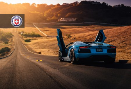 Потрясающий Lamborghini Aventador Roadster на дисках HRE Wheels