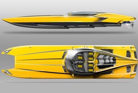 Лодка Aventaboat, выполненная в стиле Lamborghini Aventador LP720-4 Roadster