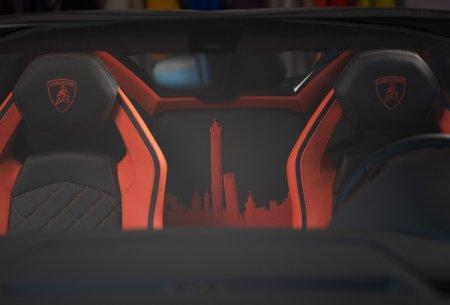 Aventador S Roadster в цвете Grigio Faramond с интерьером Arancio Dryope