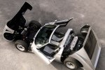 Раскрыты капот, багажник, двери и снята крыша. Miura P400 SVJ Spider 1981 года