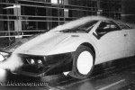 Тестирование в аэродинамической трубе одной из первых моделей прототипа Lamborghini P132