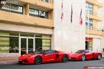 Lamborghini Aventador Roadster и Ferrari Enzo на День Святого Валентина в Монако