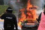 Гоночная Lamborghini Gallardo FL2 GT3 вспыхнула в Кромвеле, Австралия