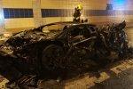 Lamborghini Aventador Carbonado 1250HP сгорел в пражском туннеле Бубенеч