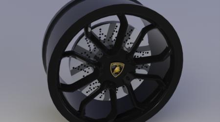 Колесный диск Lamborghini Aventador в Solidworks