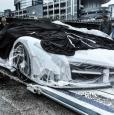 Белый Lamborghini Veneno Roadster прибыл в Гон-Конг